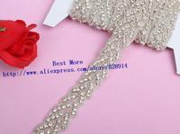 Wholesale 2.5cm Width Rhinestone Crystal Stone beaded Trim Sashes Headbands Wedding Bridal Craft Twist Trim For Cake Trim
