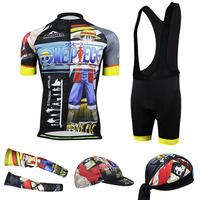 Can be mixed size 2014 3D Luffy Cycling jersey Cycling Clothes jersey Short sleeve (bib) shorts Bib Shorts Free Shipping