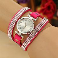 9 Colors New Fashion Leather Bracelet Watch, Watch Women,Women Dress Watches, Wristwatches Watches AW-SB-1205