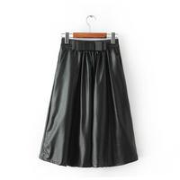 autumn and winter new European bow skirt elastic waist skirts pleated skirt Slim 92110