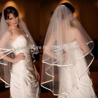 2014 Glamorous White Wedding Veils Long Vestido De Noiva Acessorios Para Mulher 2014 hot Sale Wedding Veil Custom Made