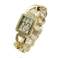 New Fashion Women Dress Watches Rose Gold  Ladies Diamond Wristwatches 3 Colors 86012