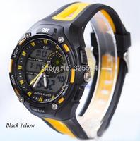 Men outdoor sports luxury watch Japan PC double movement sports watch swimming waterproof mount electronic watch digital watch
