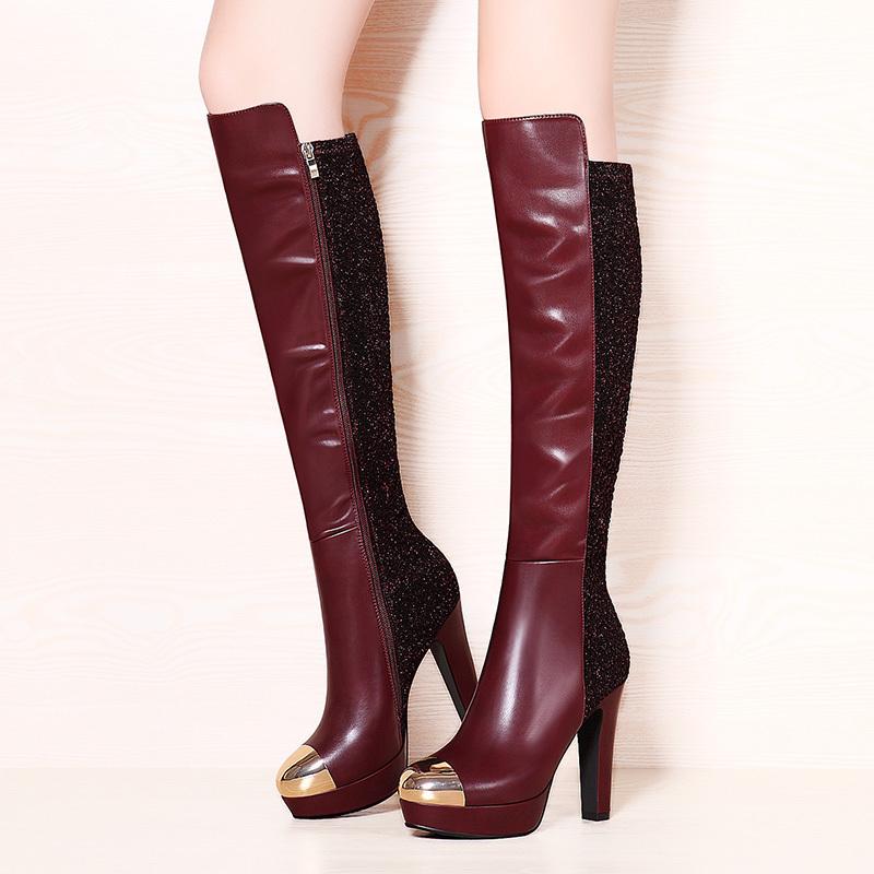 ramon moolecole 2014 novo inverno estilo 563-10 overknee botas mulheres negras bombas frete grátis laço tecido respirável sandálias(China (Mainland))