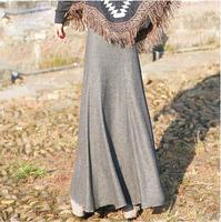 2015 New arrival winter long skirt slim hip fish tail half-length skirt women's solid color vintage autumn winter skirt