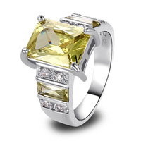 Free Shipping Stylish Green Amethyst 925 Silver Ring Size 9 Jewelry For Women New Year Gift  Wholesale