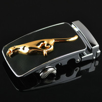Business Belts Steel Buckle Automatic Gold Leopard Belt Buckle Men's Casual Sport Accessories Buckles Cintos Backless KD15