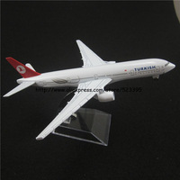 16cm Alloy Metal Air TURKISH Airlines B777 Boeing 777 Airway Airplane Model Plane Model W Stand Aircraft Toy Gift