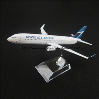 16cm Alloy Metal Canada Air WestJet Airlines Boeing 737 B737 800 Airways Airplane Model Plane Model W Stand Aircraft Toy Gift