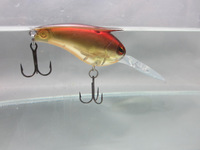 Crazy Fish - 3x Freshwater Mid Diving Floating Crankbait Pike Bass Lure VMC BN Hook