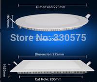 Wholesale 20PCS Recessed light housing led panel 18w led ceiling panel Round Square LED panel light SMD2835 White Free Shipping