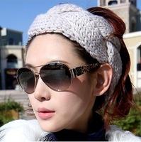 Wholesale 10 colors New twist wool knitted warm winter headband women hair turban hat fashion Hair accessaries