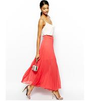 Plus Size Pleated Chiffon Skirts 2014 Fashion Long Skirt 2XL Big Size Female Summer Clothing Large Size High Waist Lady Clothes