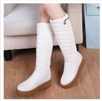 Women's Winter Boots Platform Knee High Winter Snow Boots For Women Black White SZHP Y-a68