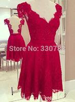 aliexpress Hot selling red lace dress backless women vestido de renda