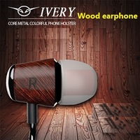 EP037B wood wooden in-ear earbunds fone bests studio original natus vincere headset for xiaomi huawei all smartphones with mic