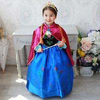 Frozen Costume Princess Elsa Party Dress Kids Clothing Girls Long Sleeve Dress Children Frozen Vestido Infantil Girls Dresses