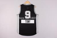 Free Shipping,2014 - 2015 Christmas Edition basketball jersey #9 Tony Parker Christimas basketball jersey