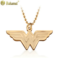 Bahamut Titanium steel jewelry  The Superheroes Wonder Woman Pendant Men's Necklace Free shipping