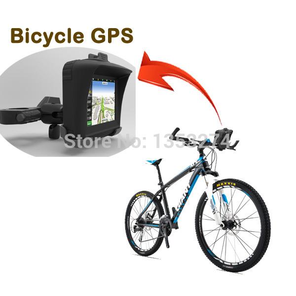 waterproof GPS navigator for bicycle motorbike!128M+4gb+BT+free map