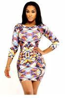 dear-lover roupas femininas vestidos winter 2014 Elegant Long Sleeved Print Dress long sleeve LC21804