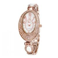 2014 New Fashion Oval Diamond  Hours Analog Quartz Watches Casual Women Watch 86020