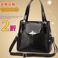 Women's handbag fashion cross-body handbag japanned leather patent leather ladies women's bags cowhide
