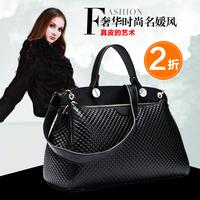 2014 first layer of cowhide shoulder bag fashion handbag bag casual genuine leather handbag women's big bag