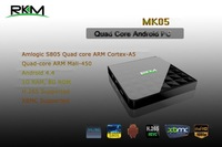 New Arrival!!!RKM Amlogic S805,Quad Core ARM Cortex-A5, Android4.4 1G RAM 8G ROM AP6210 for 802.11n WiFi