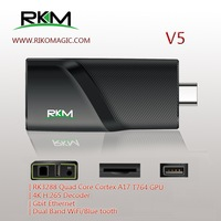 New Arrival! RKM V5 Quad Core 4K Android 4.4 MINI PC RK3288 2G DDR3 16G ROM Bluetooth Dual Band Wifi Gbit Ethernet