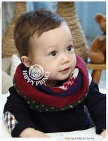 Wholesale Lovely Child Patchwork Scarf Kids muffler Cute Children Neckerchief 100Pcs/Lot Free Shipping