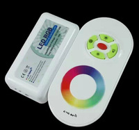 Free shipping 2.4G RGB LED Touching Remote Controller,DC12-24V input,6A*3 channel output