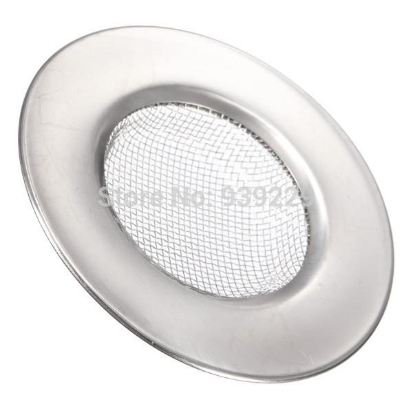 2Pcs/lot Basin Bathtub Hair Drain Mesh Waste Plug Hole Filter Flume Sink Strainer Stainless Steel Free Shipping(China (Mainland))