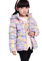 2014 hot selling Winter girl princess new ear cap Thickening camouflage jacket Free shipping