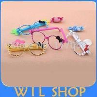Wholesale 20pcs Fashion Korea Stationery Cute Creative Bow Glasses Pen KT Cat Two Pens Ballpoint Pen for Gift