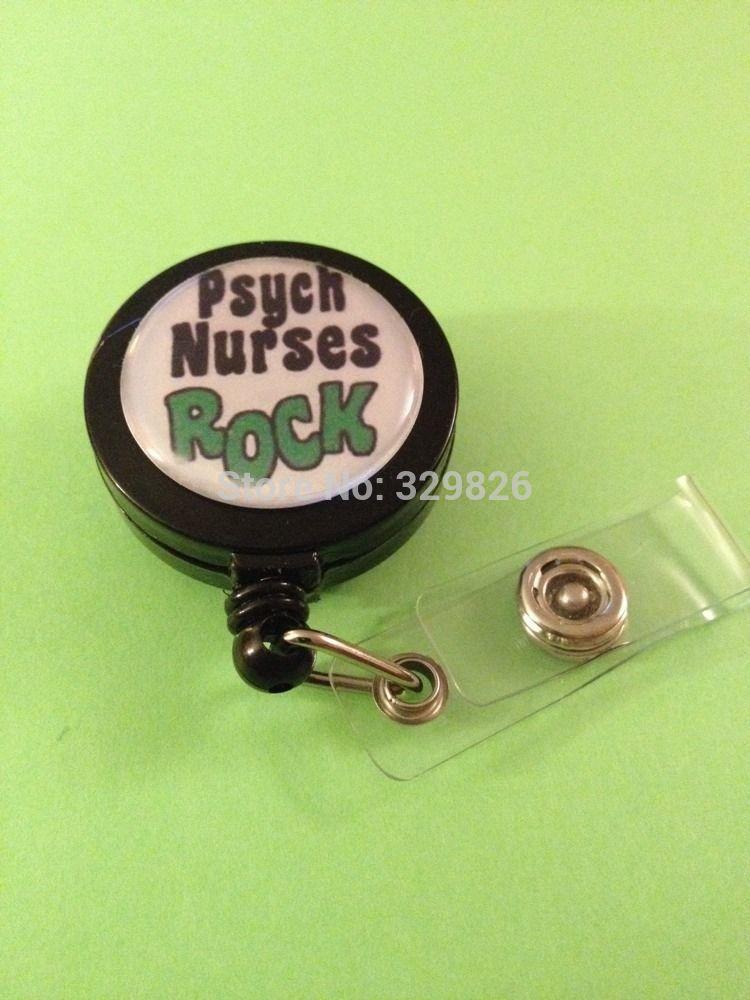 Psych Nurses Rock Id Name Reel Retractable Badge Pull Holder 10pcs/lot(China (Mainland))