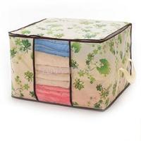 Free shipping Clothing and quilts storage bag finishing bags Visual dust bags folding storage box makeup organizer mini latas