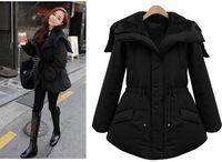 New Arrival Women Winter Down Jacket Casual Hooded Coat Plus Thick Parka Outerwear Black Plus Size