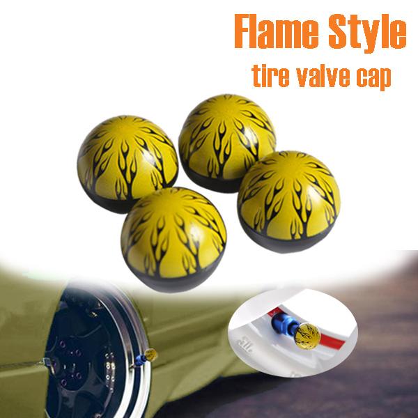 Christmas Decoration Universal Flame Design Car Wheel Tire Valve Caps(China (Mainland))