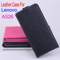 4.5 inch Lenovo A526 Up and Down Leather PU Moblie PhoneCase Cover For Lenovo A526 Smartphone Free Shipping