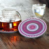 Tea pot mat waterproof mat heat insulation pad EVA mat pot bowl pad 6pcs/lot many style optional