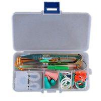 Free Shipping Knitting Knit Accessory Supply Set Basic Tools + Case 0400-028