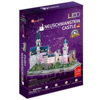 Cubic Fun 3D Puzzle Toys LED Neuschwanstein Castle Model DIY Education Puzzle Gift L174h