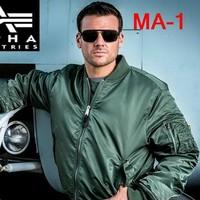 Genuine Alpha Industries Alpha-MA1/MA11 Flight Jacket Ultra-Light Waterproof Fabric Gray /Green /Black