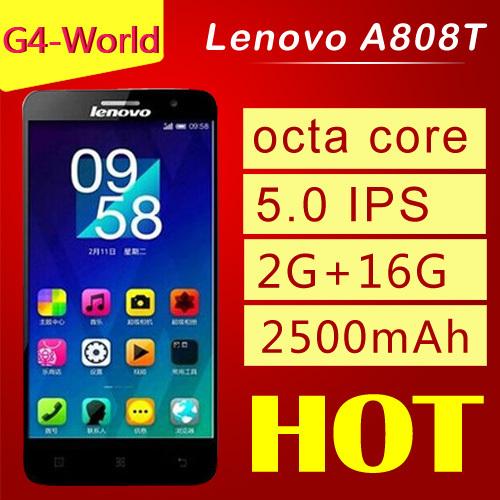 Original Lenovo A808T TD LTE GSM TD SCDMA MTK6592 4G 5 0 screen Octa Core 1