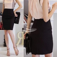 Women's Slim Retro Casual High Waist Bag Hip Knee Length Office Lady Pencil Skirt