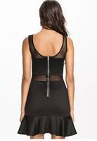 dear-lover new vestido Ruffled Skater Dress with Mesh LC21816 roupas femininas