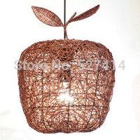 Free shipping light hand-woven natural rattan cane chandelier lamp table lamp idyllic interior lights handmade rattan