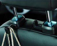 2 Pair High Road Car Hooks Headrest Universal Car Hanger Auto Bag Organizer Car Seat Headrest Hook Holder