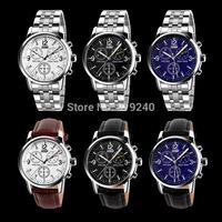 Free shipping 2015 fashion casual man watch quartz Wristwatches 6 colors